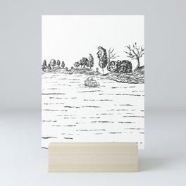 Boat on Shannon River, Ireland Mini Art Print