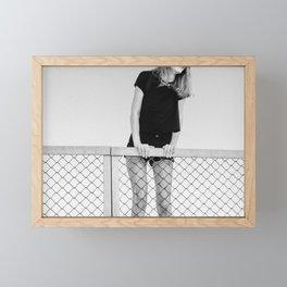 Hopping Fences Framed Mini Art Print