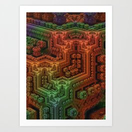 Cornered Art Print