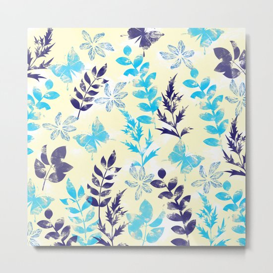 Floral Pattern VI Metal Print