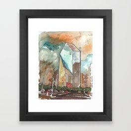 The Fountain Place Framed Art Print