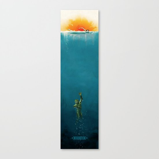 The Creature from Amity Island - Full Color Canvas Print