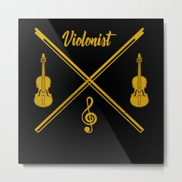 Violinist Violin Metal Print
