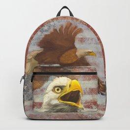 American Bald Eagle US Flag Backpack
