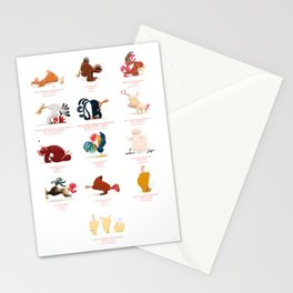 Chicken Yoga Stationery Cards