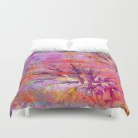 fruits Duvet Covers featuring Tropical Fruits by LebensART
