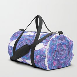 Ultra violet echeveria rosette succulent Duffle Bag