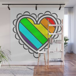 Heart in Fashion Modern Style Illustration Wall Mural