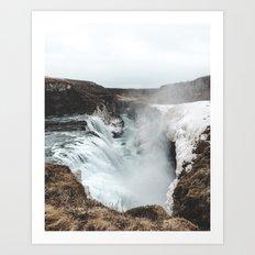Gullfoss - Landscape Photography Art Print