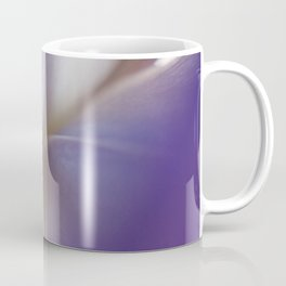 Purple Iris Petals Macro Photography Coffee Mug