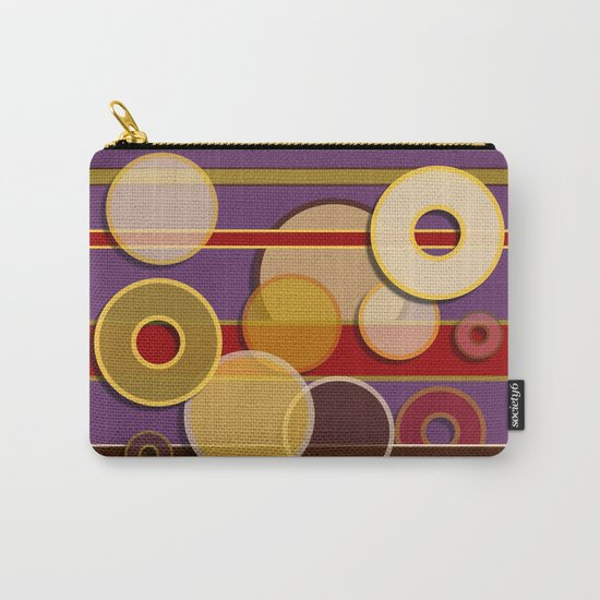 Circles, Lines & Colors Carry-All Pouch