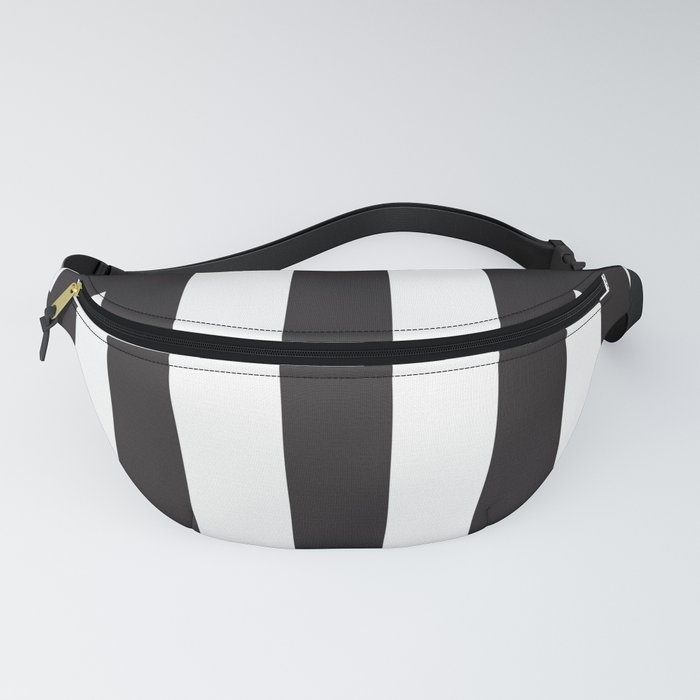 Black Greek Stripes Fanny Pack