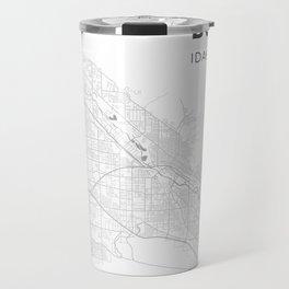 BOISE Map Print Travel Mug
