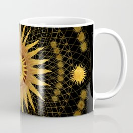 """Black & Gold Vault Mandala"" Coffee Mug"