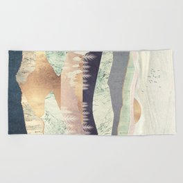 Golden Spring Reflection Beach Towel