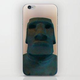 Easter Island Blue Man Statue iPhone Skin