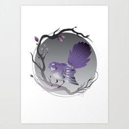 Moonlight Fantail Art Print