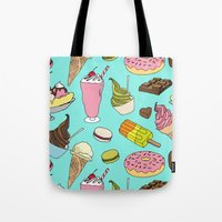 dessert Tote Bags featuring Dessert Explosion! by TinyBee
