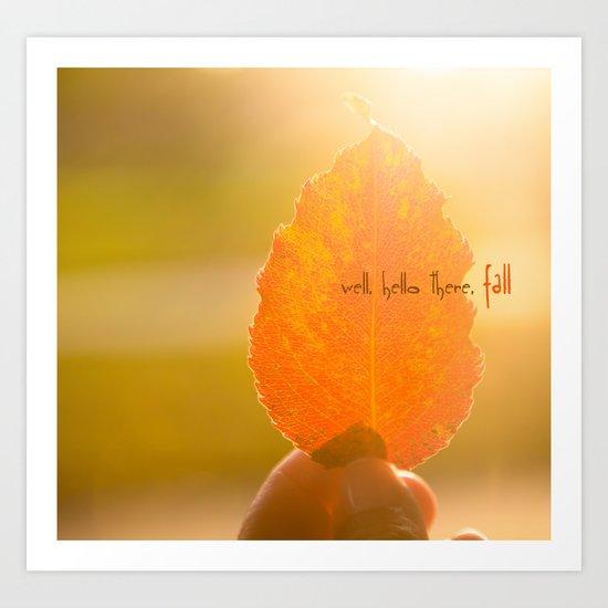 Hello Fall Art Print