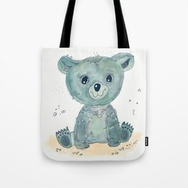 Little blue bear Tote Bag