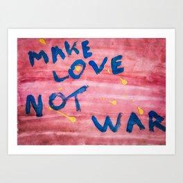 Make Love Not War painting - Colorful Art Print
