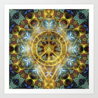 Sacred Geometry Fractal Mandala Art Print