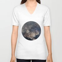 gravity V-neck T-shirts featuring Gravity by Louise Donovan