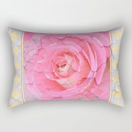 SHABBY CHIC PALE PINK  GARDEN ROSE PATTERN PINK ABSTRACT Rectangular Pillow