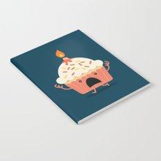 Cupcake on fire Notebook