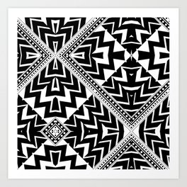 Black and White   Leyana Tribal 1 Art Print