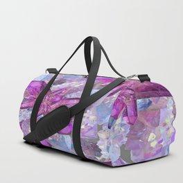 PURPLE AMETHYST & QUARTZ CRYSTALS FEBRUARY GEMS Duffle Bag