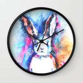 Bunny Rainbow Wall Clock