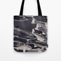 swim Tote Bags featuring Swim by Marte Stromme