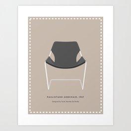 Leather  Armchair Art Print