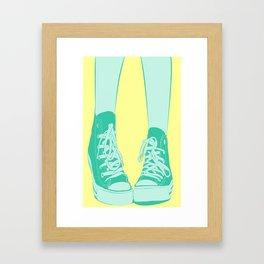Awk Chucks Yellow  Framed Art Print