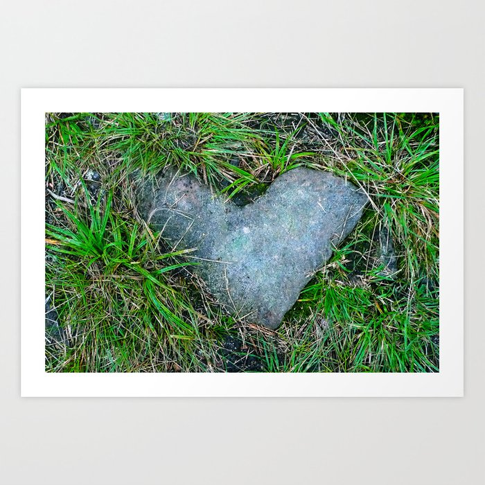 stoned heart Art Print