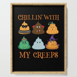 Chillin' With My Creeps Serving Tray