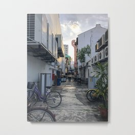 Duxton Back Alley Metal Print