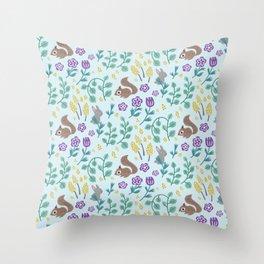 Green Meadow Throw Pillow