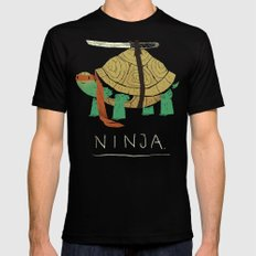 ninja MEDIUM Black Mens Fitted Tee