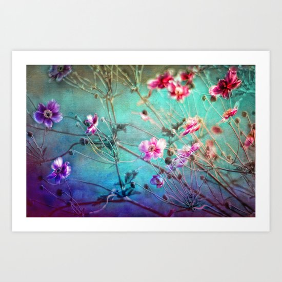 FLEURS DU PRÉ III - Wildflowers in painterly style Art Print