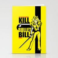 kill bill Stationery Cards featuring Kill Bullet Bill by Shana-Lee
