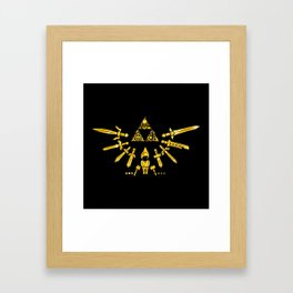 Triforce Z Framed Art Print