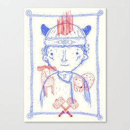 Viking Boy Canvas Print