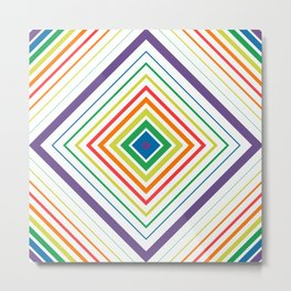 Tricky Figure - Optical Illusion - Geometric Art - Modernist Metal Print