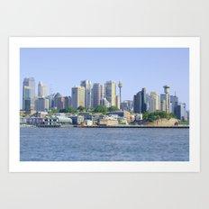 Sydney cityscape Art Print