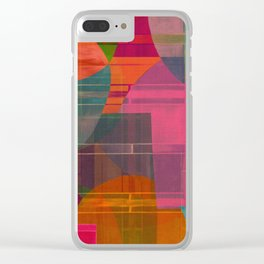 """Retro Pop Cubism"" Clear iPhone Case"