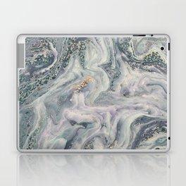 Marbled Metallic paper Laptop & iPad Skin