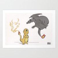 Shiny CharCharChar Art Print