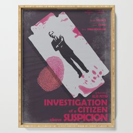 Investigation of a citizen above suspicion, italian movie, Elio Petri, Gian Maria Volontè Serving Tray